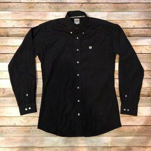 Black Cinch Square Button Down Shirt